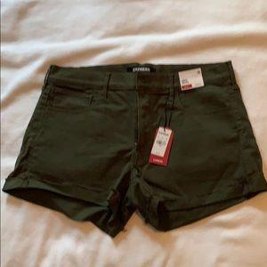 Dark Olive Green Express Shorts